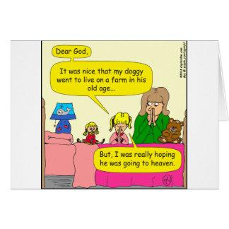 587 doggy went to live on farm cartoon card