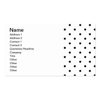 589_polka-dots-09-overlay BLACK WHITE POLKADOTS DO Business Card