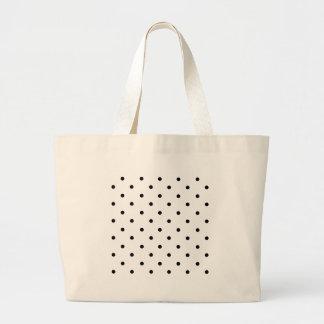 589_polka-dots-09-overlay BLACK WHITE POLKADOTS DO Large Tote Bag