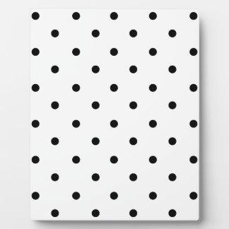 589_polka-dots-09-overlay BLACK WHITE POLKADOTS DO Plaque