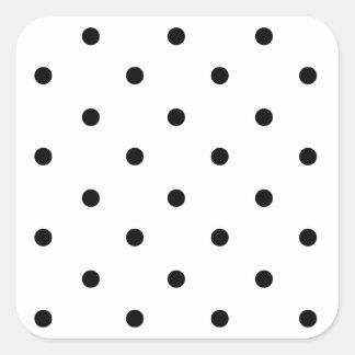 589_polka-dots-09-overlay BLACK WHITE POLKADOTS DO Square Sticker