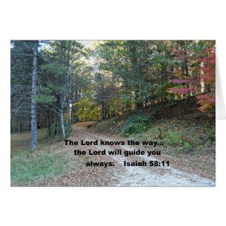 58:11 de Isaías el señor sabe la manera… Tarjeta De Felicitación