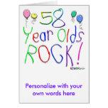 ¡58 años de la roca! felicitación