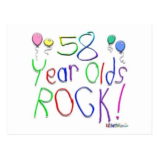 ¡58 años de la roca! postales