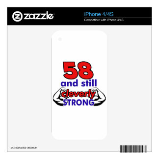 58 Birthday design Skins For The iPhone 4