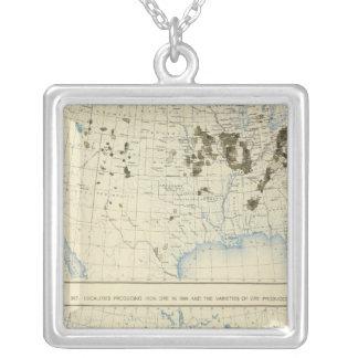 58 carbón 1890, mineral de hierro 1889 collar plateado