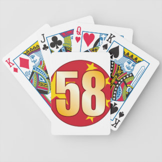 58 CHINA Gold Bicycle Playing Cards
