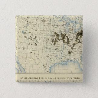 58 Coal 1890, iron ore 1889 Pinback Button