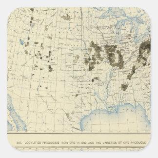 58 Coal 1890, iron ore 1889 Square Sticker