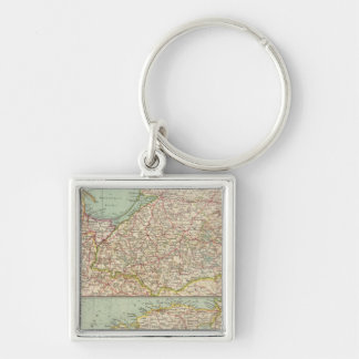 58 East Prussia, Baltic States Silver-Colored Square Keychain