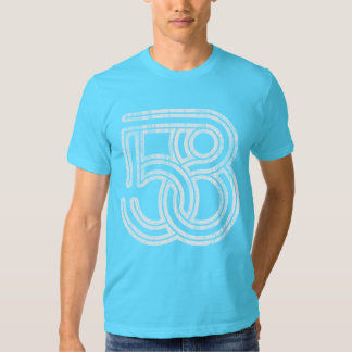 58 Interlocked (white distressed) Tee Shirt