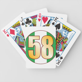 58 NIGERIA Gold Bicycle Playing Cards