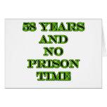 58 ninguna hora de prisión tarjeta