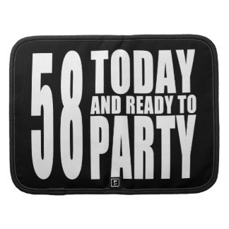 58.o Fiestas de cumpleaños: 58 hoy y aliste para Planificador