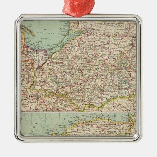 58 Prusia del este, Estados bálticos Adorno Navideño Cuadrado De Metal