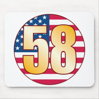 58 USA Gold Mouse Pad
