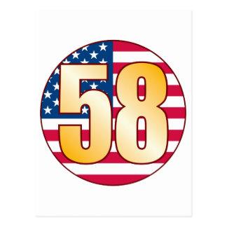 58 USA Gold Postcard