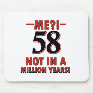 58 year birthday designs mouse pad