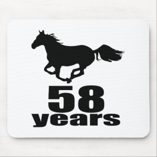 58 Years Birthday Designs Mouse Pad