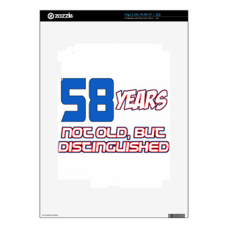 58 YEARS OLD BIRTHDAY DESIGNS DECAL FOR iPad 2