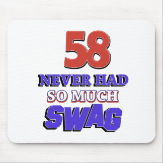 58 years Old birthday designs Mouse Pad