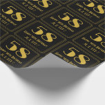 """[ Thumbnail: 58th Birthday ~ Art Deco Inspired Look """"58"""", Name Wrapping Paper ]"""