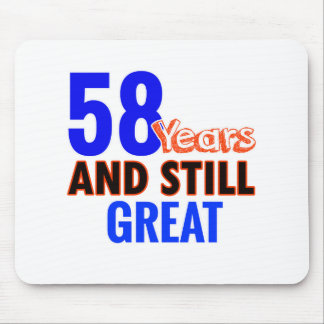 58th birthday design mouse pad