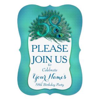 58th Birthday Invitations Personalized Announcement