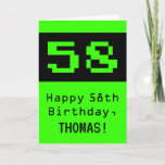 """[ Thumbnail: 58th Birthday: Nerdy / Geeky Style """"58"""" and Name Card ]"""