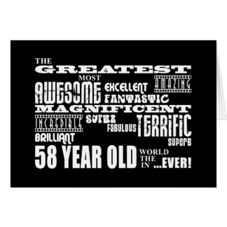 58th Birthday Party Greatest Fifty Eight Year Old Card