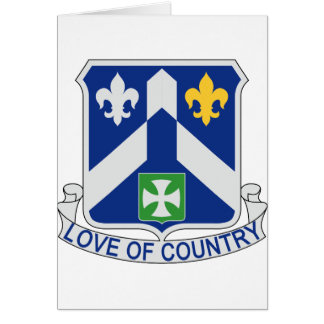 58th Infantry Regiment - Love Of Country Card