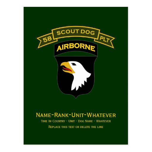 58th IPSD - 101st Airborne Post Cards