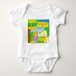 593 dumb kids and door joke cartoon baby bodysuit