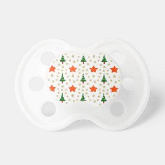 595 árbol de navidad y estrellas lindos chupete de bebe