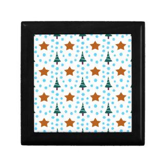 597 Cute Christmas tree and stars pattern.jpg Jewelry Box