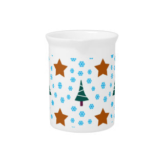 597 Cute Christmas tree and stars pattern.jpg Pitcher