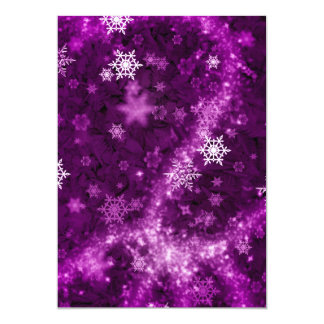 597 DEEP PURPLES WHITE WINTER FROST SNOWFLAKES BAC CARD