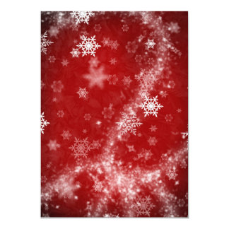 597 DEEP RED WINTER FROST SNOWFLAKES BACKGROUNDS W CARD