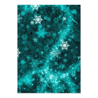 597 TEAL AQUA GREEN BLUE WHITE WINTER FROST SNOWFL CARD