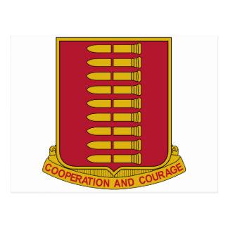 597th Field Artillery Battalion Military Patch Postcard