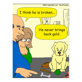 598 bring back gold cartoon postcard