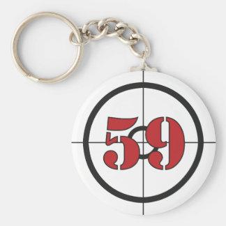 ## 59 ## BASIC ROUND BUTTON KEYCHAIN