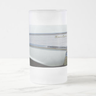 59 belair fin in white frosted glass beer mug