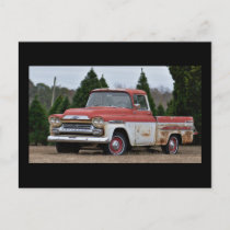 59 Chevy in an Arkansas Christmas Tree Farm Postcard