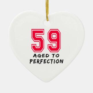 59 envejeció al diseño del cumpleaños de la perfec ornamento de navidad