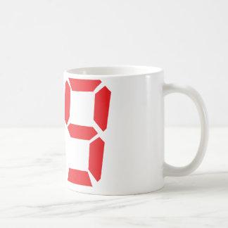 59 fifty-nine red alarm clock digital number coffee mug