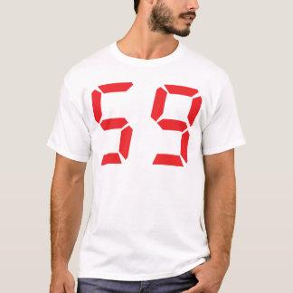 59 fifty-nine red alarm clock digital number T-Shirt