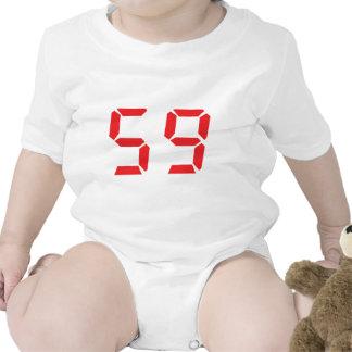 59 fifty-nine red alarm clock digital number shirts