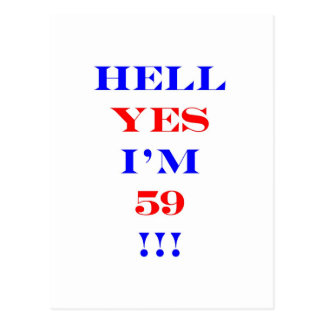 59 Hell yes Postcard