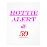 59 Hottie Alert Letterhead Design